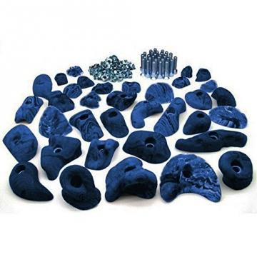 35 Klettergriffe im Starterset für Kinder in Blau