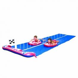Bestway 52113B - Wasserrutsche für Kinder 488 cm mit 2 Surfbrettern