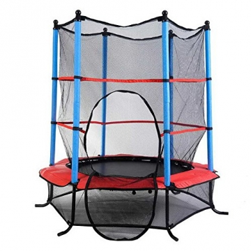 gartentrampolin 140cm mit sicherheitsnetz kinder trampolin sicherheitsrampolin garten kids. Black Bedroom Furniture Sets. Home Design Ideas