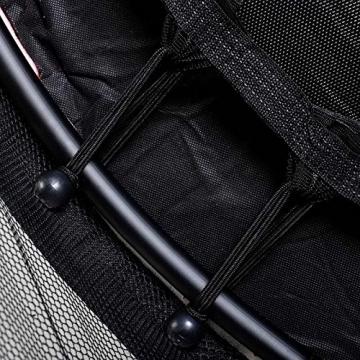 Detailaufnahme Federung Gartentrampolin 140cm mit Sicherheitsnetz Kinder Trampolin Sicherheitsrampolin
