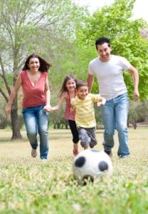 Fußball im Garten