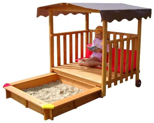 gaspo 310375 sandkasten mit spielhaus garten kids. Black Bedroom Furniture Sets. Home Design Ideas