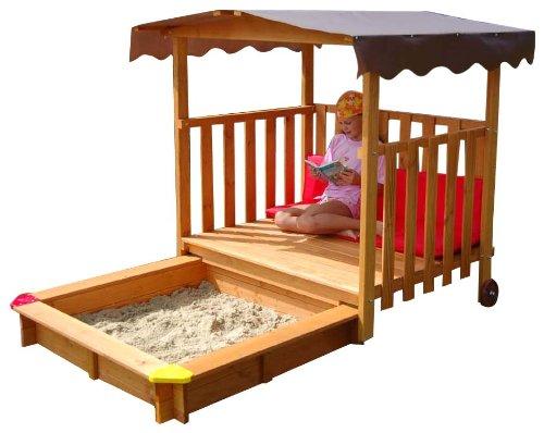 gaspo 310375 sandkasten mit spielhaus garten kids. Black Bedroom Furniture Sets. Home Design Ideas