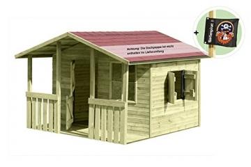 Gartenpirat® Kinderspielhaus Lisa aus Holz mit Veranda