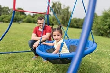 HUDORA - Nestschaukel 90 cm - 72126/01 - mit Kind und Vater - Seitenansicht