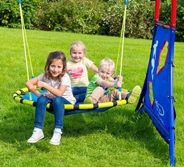 HUDORA - Nestschaukel 120 cm, alu Foto mit Kindern