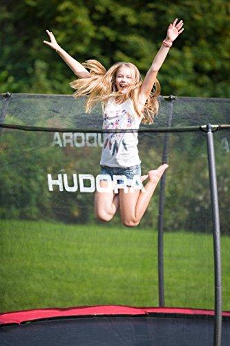 Nahaufnahme mit Mädchen HUDORA Fantastic Trampolin 400