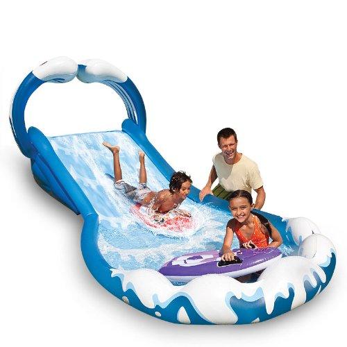 Intex Wasserrutschbahn Wasserbahn aufblasbar 406 x 168 x 163 cm - Garten-Kids