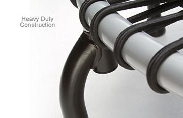 Detailaufnahme Gummiseile JumpSport Swing Fitnesstrampolin- Einzelgummiseil Aufhängung