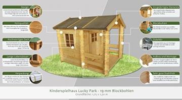 Kinderspielhaus - 1,75 x 1,30 Meter aus Blockbohlen Auswahlmöglichkeiten