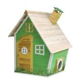 Kinderspielhaus NELE - Spielhaus aus Holz in Grün - Frontansicht
