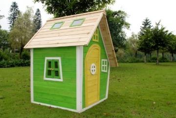 Seitenansicht Kinderspielhaus NELE - Spielhaus aus Holz