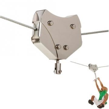 Foto von Laufkatze für Seilbahn/Seilrutsche aus Edelstahl