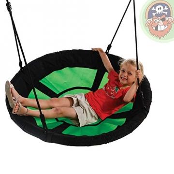 Nestschaukel Gartenpirat® Ø 98 cm Belastbarkeit 150 kg - Foto mit Kind