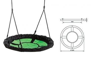 Maßskizze Nestschaukel Gartenpirat® Ø 98 cm Belastbarkeit 150 kg