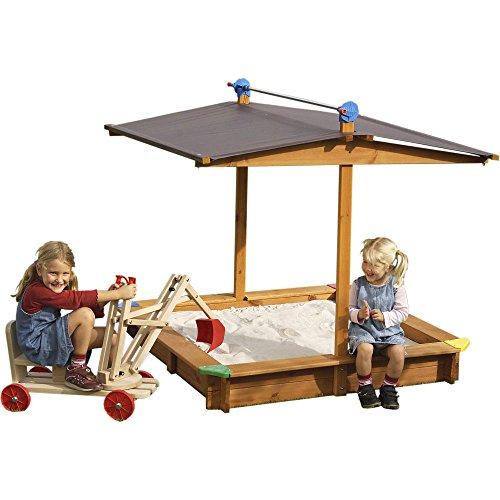 Sandkasten Mit Dach Absenkbar Kinder Metradirektde: Sandkasten MICKEY Mit Absenkbarem Dach