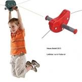 Seilbahn Para 30 m - Gartenpirat - für Kinder im Garten Kabelbahn - Bild mit Kind