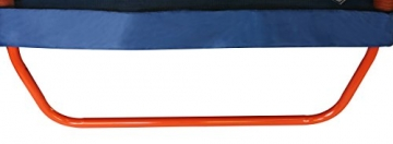 Detailaufnahme Standuß SixBros. SixJump 2,10 M Gartentrampolin Orange Trampolin mit Sicherheitsnetz
