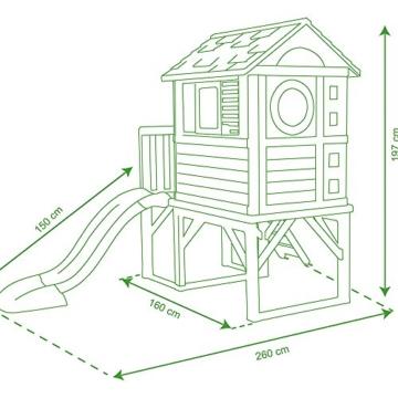Smoby – Stelzenhaus - Spielhaus mit Rutsche