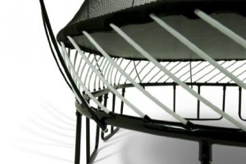Detailaufnahme Federung Springfree S155 - Jumbo Ø 400cm x 400cm reine Sprungfläche