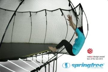 Wirkungsweise Sicherheitsnetz Springfree S155 - Jumbo Ø 400cm x 400cm reine Sprungfläche