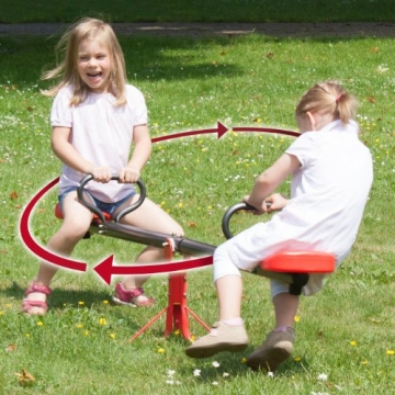 Foto mit 2 Kindern Ultrasport Karussell Wippe Rumpelstilzchen