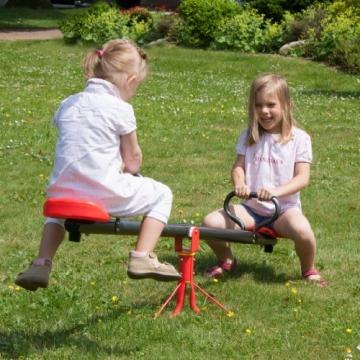 Foto mit 2 Kindern seitlich Ultrasport Karussell Wippe Rumpelstilzchen