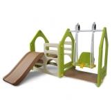Wetterfestes Spielhaus mit Rutsche & Schaukel für Kinderzimmer Garten
