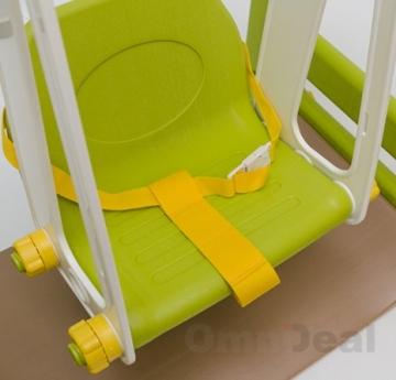 Detailansicht Sitz Wetterfestes Spielhaus mit Rutsche & Schaukel für Kinderzimmer & Garten