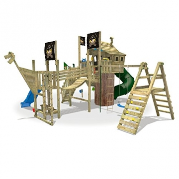 Seitenansicht WICKEY NeverLand Gold Edition Deluxe - Spielturm mit Turborutsche