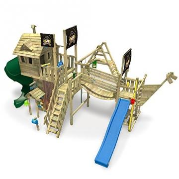 Ansicht von Oben - WICKEY NeverLand Gold Edition Deluxe - Spielturm mit Turborutsche