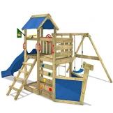 WICKEY Seaflyer Spielturm Rutsche Schaukel Sandkasten