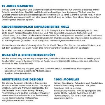 Prospekt Datenblatt WICKEY Seaflyer Spielturm Rutsche Schaukel Sandkasten