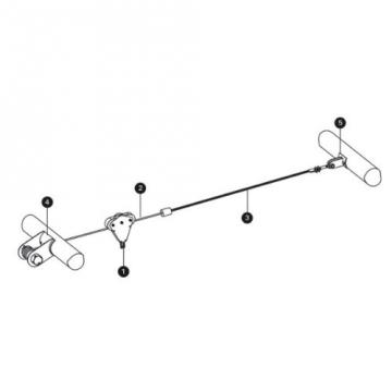 Zeichnung der WICKEY Kinderseilbahn Heavy Kabelbahn